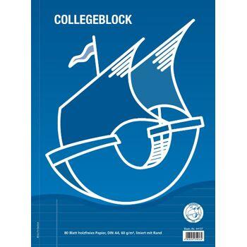 12-44137, Collegeblock A4 liniert 80 Blatt  21   (37)    1 Rand  links, Schreibblock, Malblock, Zeichenblock