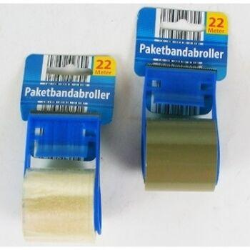 28-023605, Paketklebebandabroller inklusive 1 Paketklebandrolle, Klebrolle, Packband, Paketband