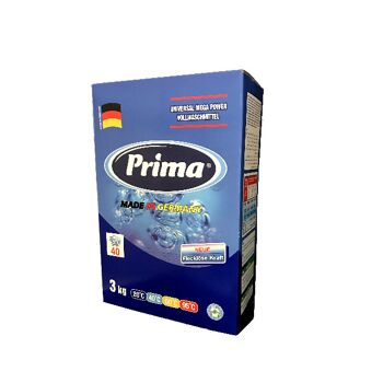Prima Waschmittel Vollwaschmittel Waschpulver 3 kg Karton - Medium Qualität - MADE IN GERMANY -