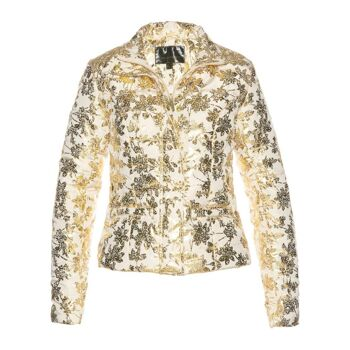 Damen Jacke Steppjacke Winterjacke mit Druck Stepp Wintermode
