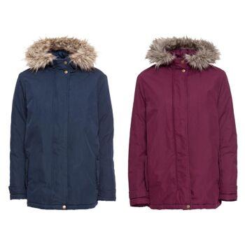 Damen Winterjacke blau rot Outdoor Jacke Winter Jacken