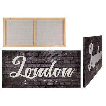 3D-Bild, London, Leinen auf Holzrahmen