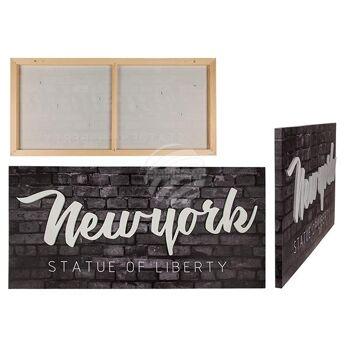 3D-Bild, New York, Leinen auf Holzrahmen