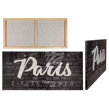 3D-Bild, Paris, Leinen auf Holzrahmen