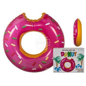 Aufblasbarer Schwimmring, Pinkfarbener Donut