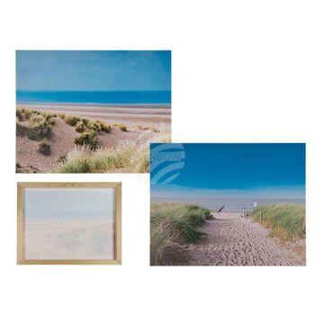 Bild, Düne, Leinen auf Holzrahmen, ca. 40 x 50 cm