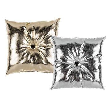 Deko-Kissen in Metalloptik, 100% Polyester
