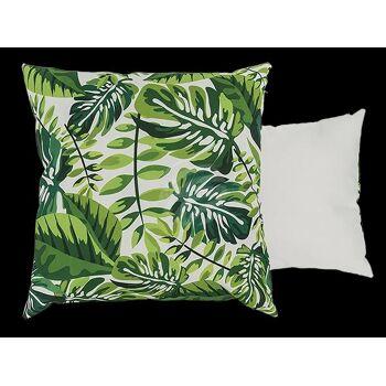 Deko-Kissen, Tropenblätter, mit Reissverschluss