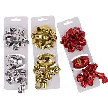 Geschenkband-Set, rot, silber- & gold sortiert