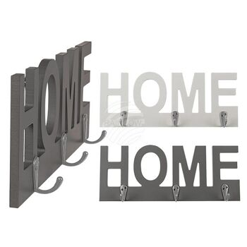 Holz-Schlüsselboard, HOME, mit 3 Haken