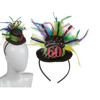 Kunststoff-Haarreif mit Geburtstagshut - 60