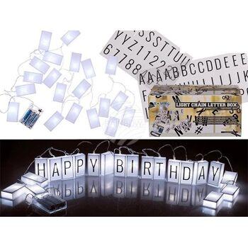 Lichterkette, Letterbox, mit 70 Buchstaben