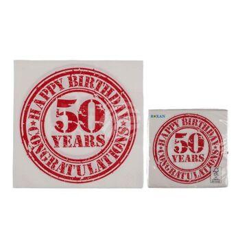 Papier-Servietten, Vintage Look, Happy Birthday