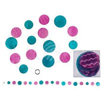 Pink-blaue Caprice-Girlande, L: ca. 150 cm