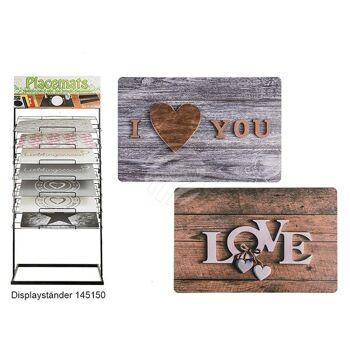 Polypropylen-Tischset, Love & I love You sortiert