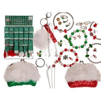 Schmuck-Accessoires, Weihnachten, 25-fach sortiert