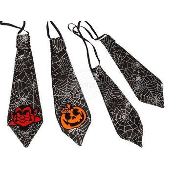 Schwarze Krawatte, Halloween, ca. 29 x 10 cm