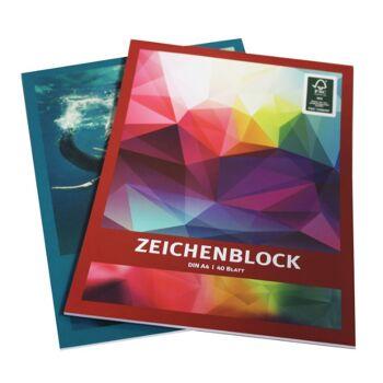 12-458402, Zeichenblock Malblock  40 Blatt  Weisses Papier