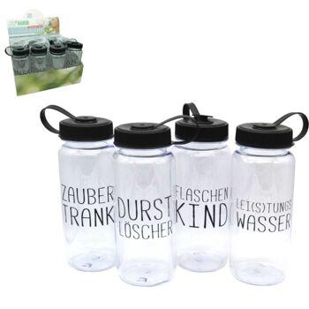 28-777491, Trinkflasche 700ml, mit Spruch, Durstlöscher, Flaschenkind, Zaubertrank, usw