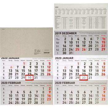 28-890360, Monatskalender 2020, 3 Monate sichtbar, Wandkalender++++++