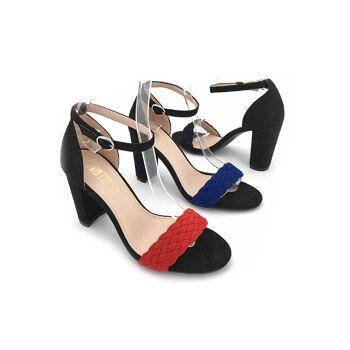 Damen Woman Sommer Trend Sandalette Sandale Knöchelriemchen High Heels Schuh Shoes Sommer Business Freizeit - 11,90 Euro