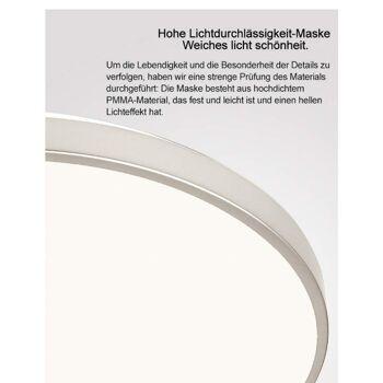 VINGO® 60W LED Deckenleuchte warmweiß Wohnzimmerlampe Esszimmerlampe Schlafzimmerleuchte Badezimmerlampe spritzwassergeschützt energiesparen