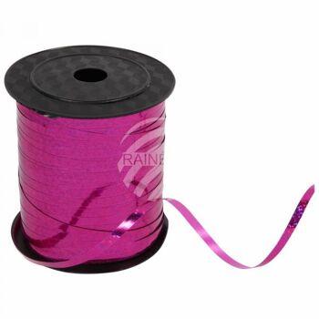Geschenkband Dekoband rosa magenta glitzernd