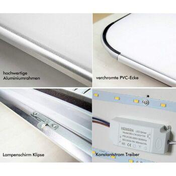 Hengda® 12W LED Deckenleuchte Warmweiß Moderne 160-2160LM Esszimmer Deckenbeleuchtung IP44 Badezimmer geeignet