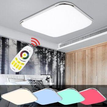 Hengda® LED Deckenleuchte RGB Mit Fernbedienung Lichtfarbe und Helligkeit einstellbar [Energieklasse A++] (24W RGB)