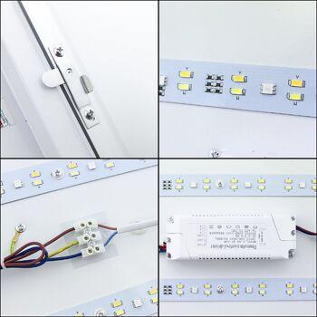 Hengda® LED Deckenleuchte RGB Mit Fernbedienung Lichtfarbe und Helligkeit einstellbr  [Energieklasse A++] (48W RGB)