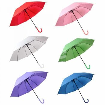 Regenschirm Stockschirm sortiert einfarbig
