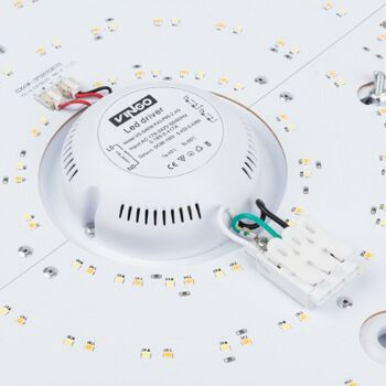 VINGO 60W LED Deckenleuchte Sternenhimmel Kaltweiß Wohnzimmerlampe Deckenbeleuchtung Panel Lüster Ultraslim Schlafzimmer energiesparend