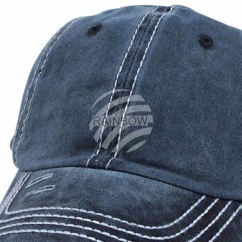 Vintage Retro Distressed Trucker Cap blau Unifarbe