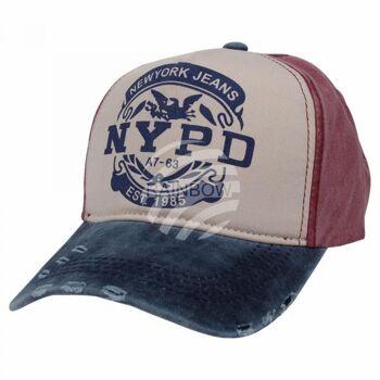 Vintage Retro Distressed Trucker Cap blau weiss