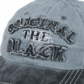 Vintage Retro Distressed Trucker Cap grau