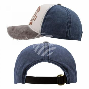 Vintage Retro Distressed Trucker Cap grau weiss