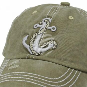 Vintage Retro Distressed Trucker Cap grün Anker