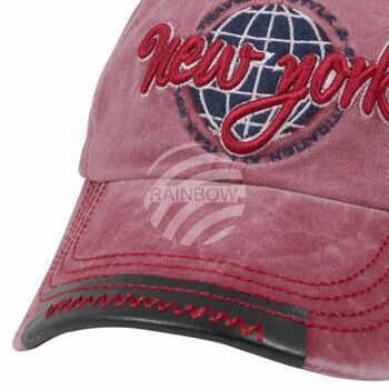 Vintage Retro Distressed Trucker Cap rot New York