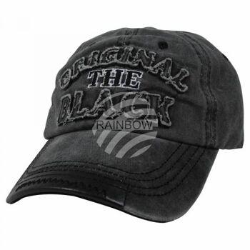Vintage Retro Distressed Trucker Cap schwarz