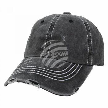 Vintage Retro Distressed Trucker Cap schwarz Uni