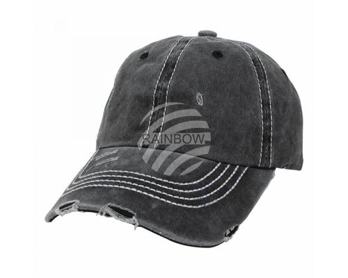 Vintage Retro Distressed Trucker Cap schwarz Uni