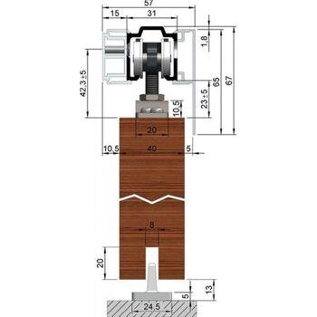 Abdeckkappe für Abstandsprofil für Holzblenden, 2 Stk.