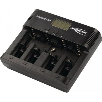 ANSMANN Akkuladegerät Powerline 5 PRO, für 4 Akkus, ohne Akkus, Powerline 5 Pro