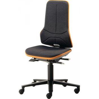 BIMOS Arbeitsdrehstuhl Neon, Rollen, ohne Polsterelement blau, 450-620 mm