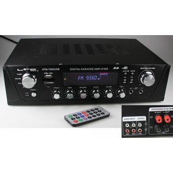 HiFi Receiver ''CT-7000 USB'', USB/SD, Tuner, Karaoke