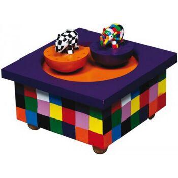 Holz Spieldose Tanzender Elmer, 1 Stück