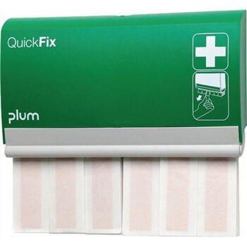 Pflasterspender QuickFix B233xH.133xT.30 mit 2x30 elastischen Fingerverbänden PLUM