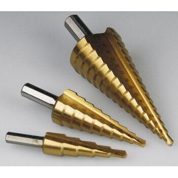 Stufenbohrersatz ''Pro-XL'' 3-teilig, 4-12mm / 4-20mm/ 4-32mm