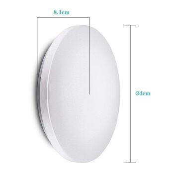 VINGO 16W LED Deckenbeleuchtung rund Deckenlampe Starlight Effekt Weiß [Energieklasse A++], aluminium