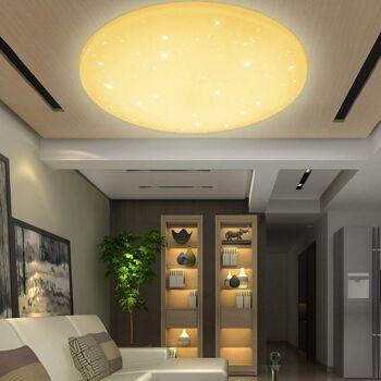 VINGO® 50 Watt Starlight Effekt LED Deckenleuchte Warmweiß Empfangsbereichen Deckenbeleuchtung 4750lm Lichtstrom